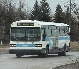 Regina Transit - Regina Transit Bus 566 (TC40-102N Classic) in pre-2008 livery