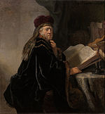 Rembrandt Harmensz van Rijn - Scholar at his Study - Google Art Project.jpg