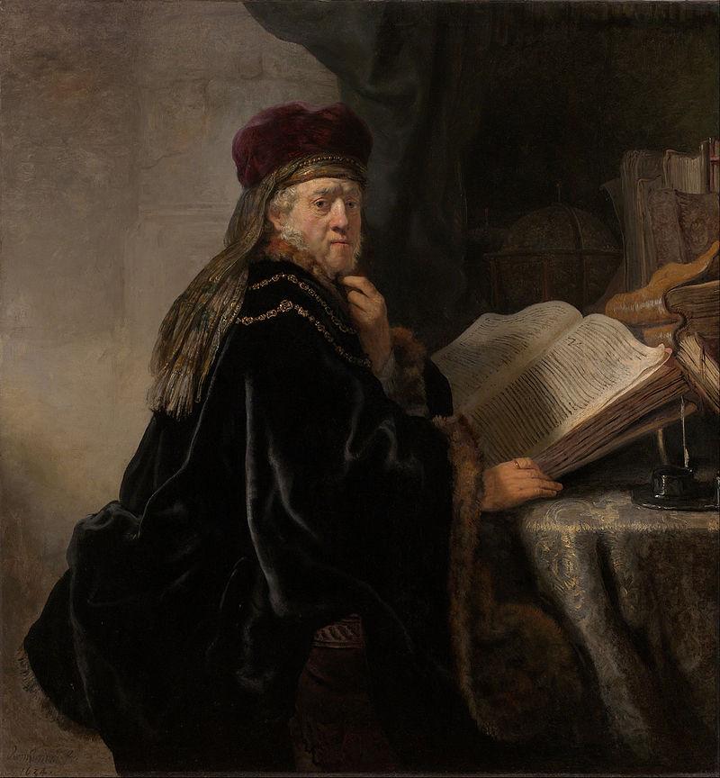 Rembrandt Harmensz van Rijn - Scholar en su estudio - Google Art Project.jpg