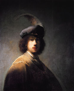 Rembrandt with plumed beret, by Rembrandt.jpg