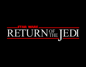 English: Return of the jedi logo made from 0 o...