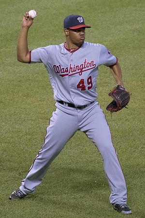 Reynaldo López - López with the Washington Nationals in 2016