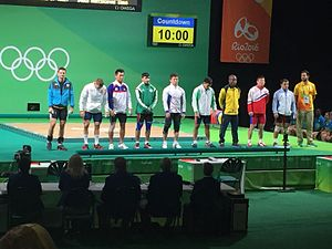 Rio 2016 - Weightlifting Men 69kg prelim. (28893102970).jpg