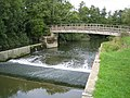 River Mole, Castle Mill weir and footbridge - geograph.org.uk - 806224.jpg