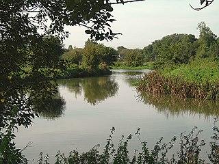 River Stort river in Essex and Hertfordshire, United Kingdom