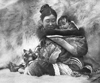 Robert J. Flaherty - Nyla, who played the role of the wife of Nanook, and her child