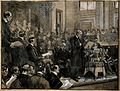 Robert Koch reading his address to a conference at St. James Wellcome V0006774.jpg
