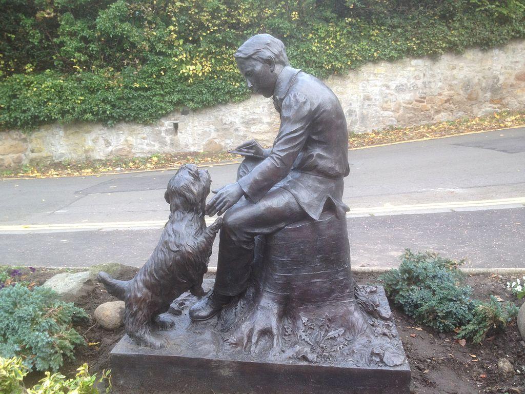 O συγγραφέας με το σκύλο του...