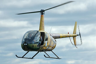 Light aircraft - A Robinson R44 light helicopter