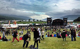 RockNess - View of the main stage overlooking Loch Ness at the 2012 event.
