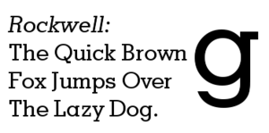 CEA-708 - Image: Rockwell font