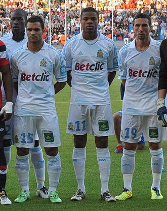 Morgan Amalfitano - Morgan Amalfitano (19) lining up with Marseille for the 2011 Trophée des champions.