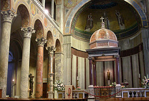 Sant'Agnese fuori le mura - The altar and apse