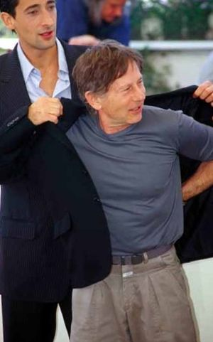 Roman Polanski and Adrien Brody at Cannes in 2002.