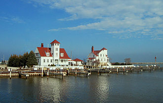 Racine, Wisconsin - The mouth of the Root River, Racine, Wisconsin