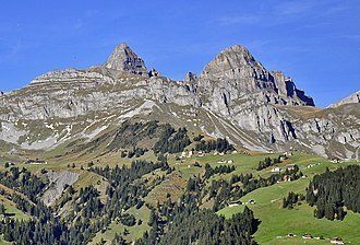 Fulen (Schwyz Alps) - Rossstock (left) and Fulen (right) from the south