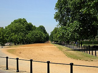 road and bridleway in Hyde Park, London