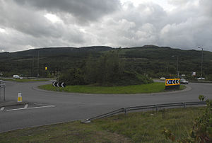 Blaengwrach - Image: Roundabout on the A465 near Cwmgwrach geograph.org.uk 227941