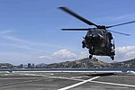 Royal Australian Navy MRH-90 lands on the flight deck of USS Green Bay in November 2018.jpg