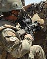 Royal Marine in Afghanistan Using L129A1 Sharpshooter Rifle MOD 45152587.jpg