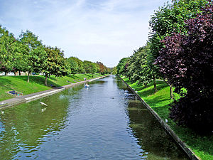 Royal Military Canal - The Royal Military Canal at Hythe