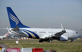 Boeing Business Jet - Boeing 737-700/BBJ of the Abu Dhabi airline Royal Jet