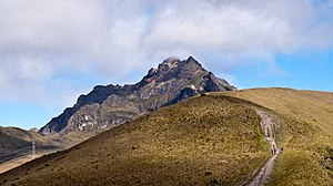 Pichincha Volcano - Ruku Pichincha as seen from the trail from Quito to the top