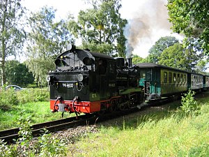 "Province of Pomerania (1815–1945) - Narrow gauge railway ""Rügensche Kleinbahn"", operating since 1895"