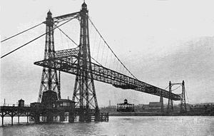 Widnes-Runcorn Transporter Bridge - Image: Runcorn transporter bridge (Wonder Book of Engineering Wonders, 1931)