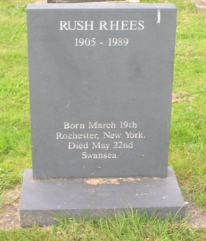 Rush Rhees - Gravestone