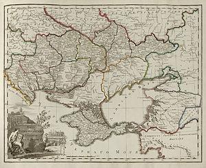 Novorossiya Governorate - Image: Russian Empire Map 1800 38 Novorossiyskaya Province