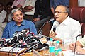 S. Jaipal Reddy addressing a Press Conference on Long Range Forecast for Southwest Monsoon rainfall 2013, in New Delhi on April 26, 2013. The Secretary, Ministry of Earth Sciences, Dr. Shailesh Nayak is also seen.jpg