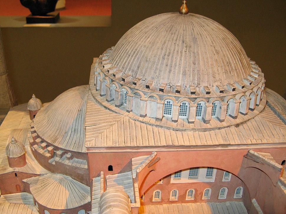 SANTA SOFÍA DE CONSTANTINOPLA Maqueta Museo Tiflológico Detalle cúpula