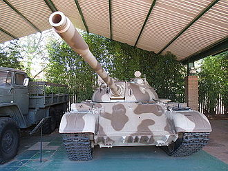 South African National Museum of Military History - A captured Cold War era T-54/55 tank
