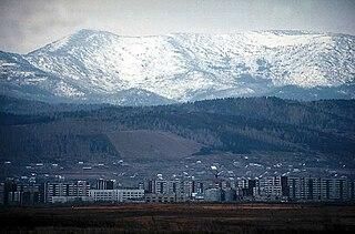 Sayanogorsk Town in Khakassia, Russia
