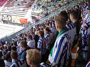 Parasocial interaction - Fans at a soccer match (SC Heerenveen) are often part of the parasocial interaction.