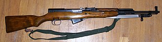 Semi-automatic firearm - The SKS is a semi-automatic Russian rifle