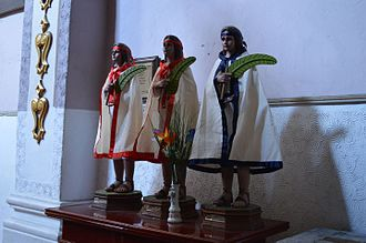 Child Martyrs of Tlaxcala - Statue of the three children.