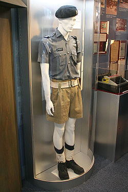 The khaki uniform worn from 1945 to 1971, seen here on display at Jurong Police Division Headquarters