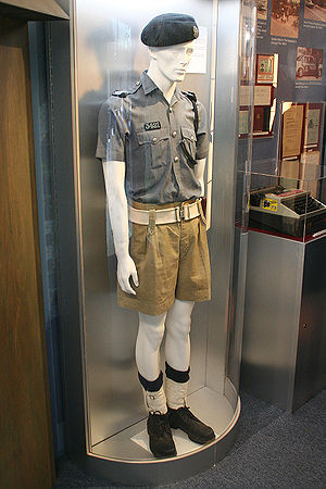 Drill (fabric) -  Antique khaki police uniform at Jurong Police Division Headquarters