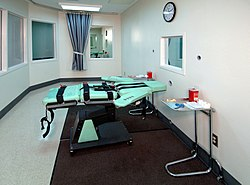 Lethal injection chamber at San Quentin prison in California.