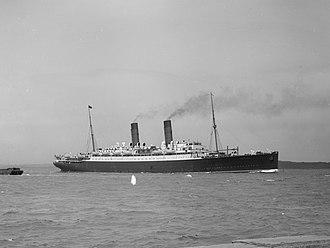 RMS Franconia (1910) - Image: SS Franconia 1910