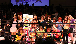 World Wonder Ring Stardom - Stardom's roster at the promotion's third anniversary event in April 2014