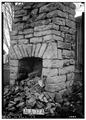STONE CHIMNEY TO WEST ROOM - AFTER REMOVAL OF WEST ROOM. - Adam Weaver Log House, U.S. Highway 72, Rogersville, Lauderdale HABS ALA,39-ROG.V,1-9.tif
