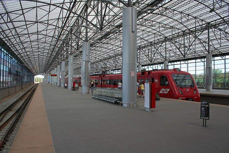 Lotnisko Szeremietiewo pociąg