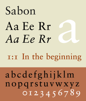 Sabon - Image: Sabon