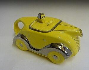 James Sadler and Sons Ltd - Sadler racing car teapot 1930's.