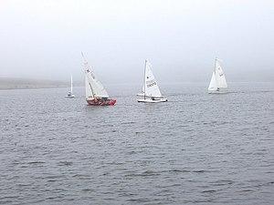 Upper Tamar Lake - Sailing on the lake.