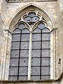 Saint-Sulpice-de-Favières (91), collégiale, abside, fenêtre 3e niveau.JPG