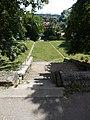 Saint Ladislaus church lower garden, stairs in Veszprém, 2016 Hungary.jpg